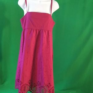 Lacey magenta Roxy summer dress adjustable strap